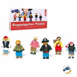 Small Foot Piraten Poppetjes, 6-delige set