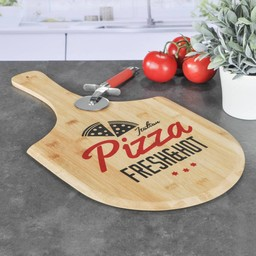 HI Bamboe Snijplank Pizza Design