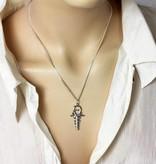 Ankh-Hermes pendant - silver 925
