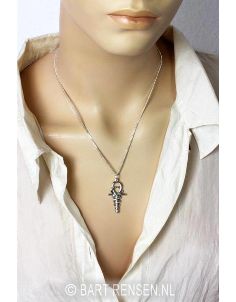 Ankh Hermes pendant - sterling silver