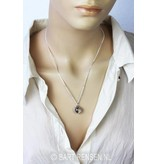 Male - Female pendant - sterling silver