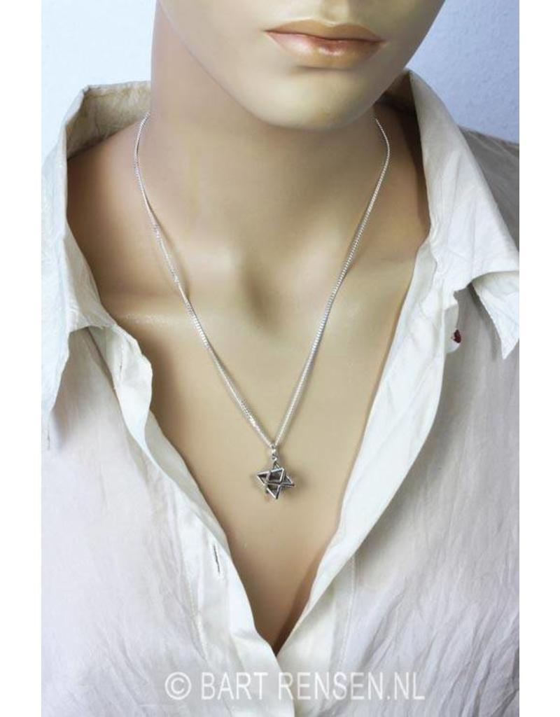 Merkaba pendant - sterling silver