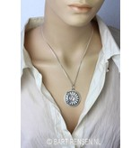 Lotus with rock crystal - sterling silver