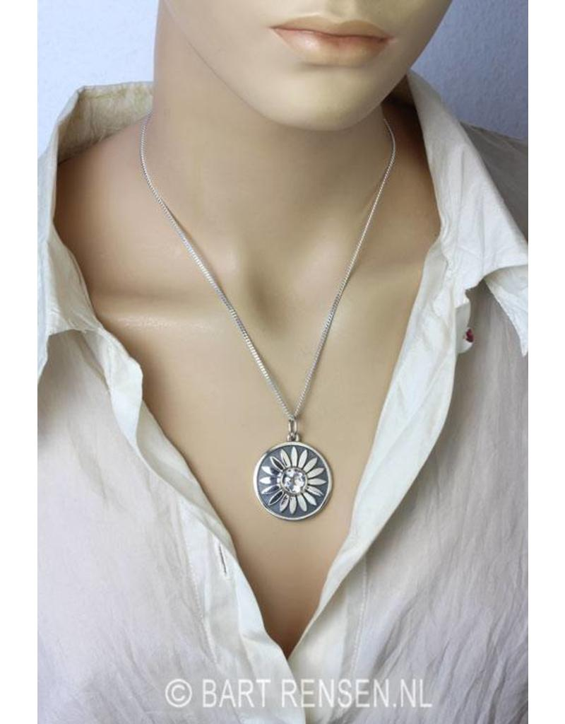 Lotus with white Topaz - sterling silver