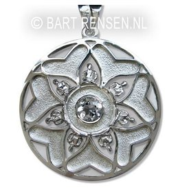 Mandala hanger - zilver