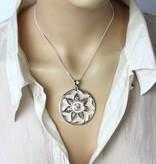 Mandala hanger - zilver 925