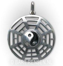 Gouden Yin-Yang Trigrammen hanger