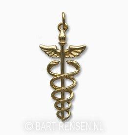 Golden Caduceus pendant