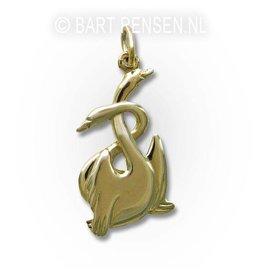 Swan pendant - gold