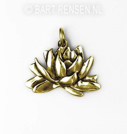 Lotus pendant - gold