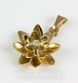 Lotus hanger -14 krt goud