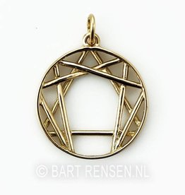Enneagram pendant - gold