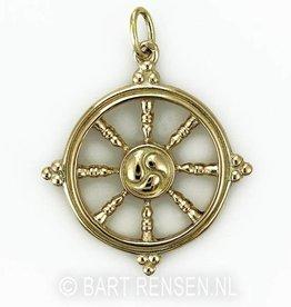 Dharma wheel - gold