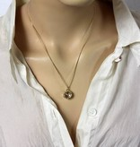 Man-Woman pendant - 14 carat gold