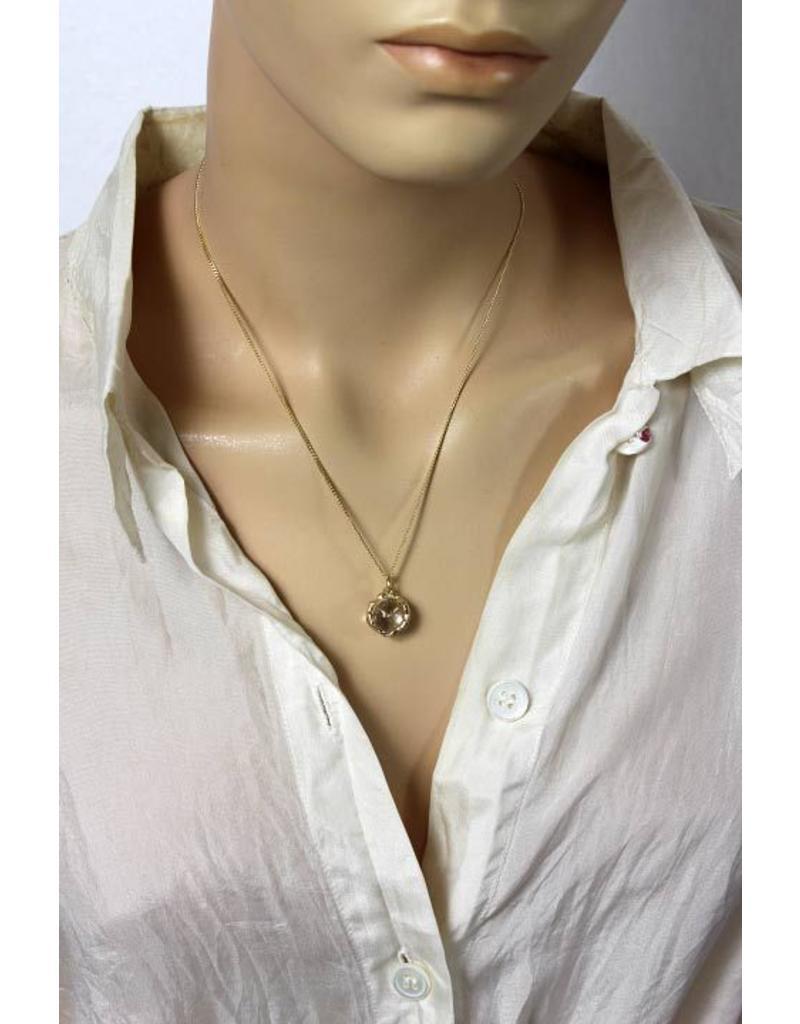 Man-Woman pendant - 14 crt gold