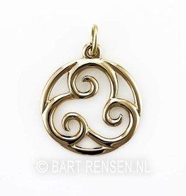 Triskel pendant - gold