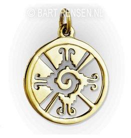 Hunab Ku pendant - gold