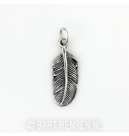Feather pendant - Silver