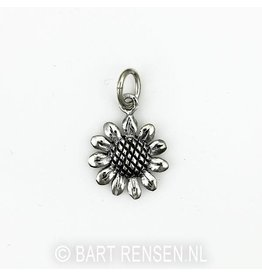 Sunflower pendant - silver