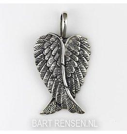 Engelenvleugels hanger - zilver