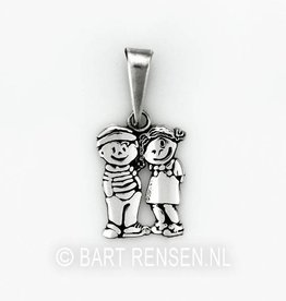 Son Daughter pendant - silver