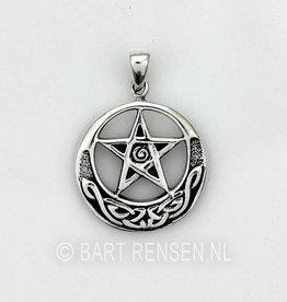 Keltische Pentagram hanger - Zilver