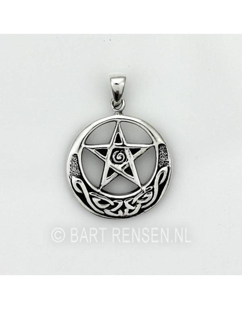 Pentagram pendant silver celtic pentagram pendant sterling silver aloadofball Choice Image