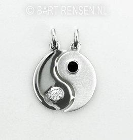 Yin Yang breek hanger - zilver