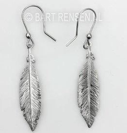 Feather Earrings - Silver