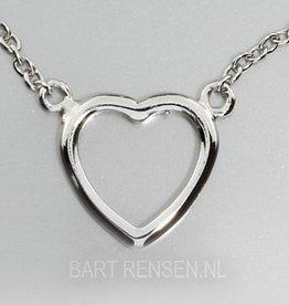 Hart hanger - zilver