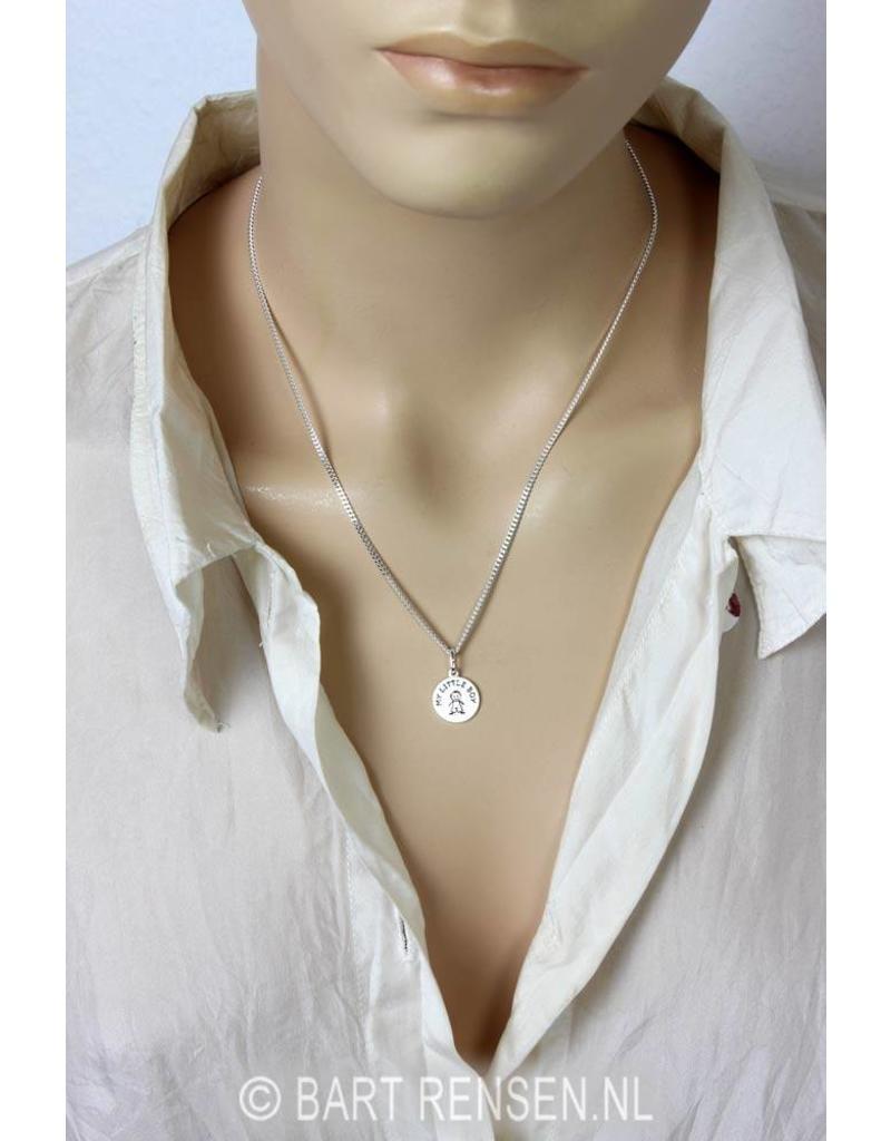 Boy pendant - sterling silver