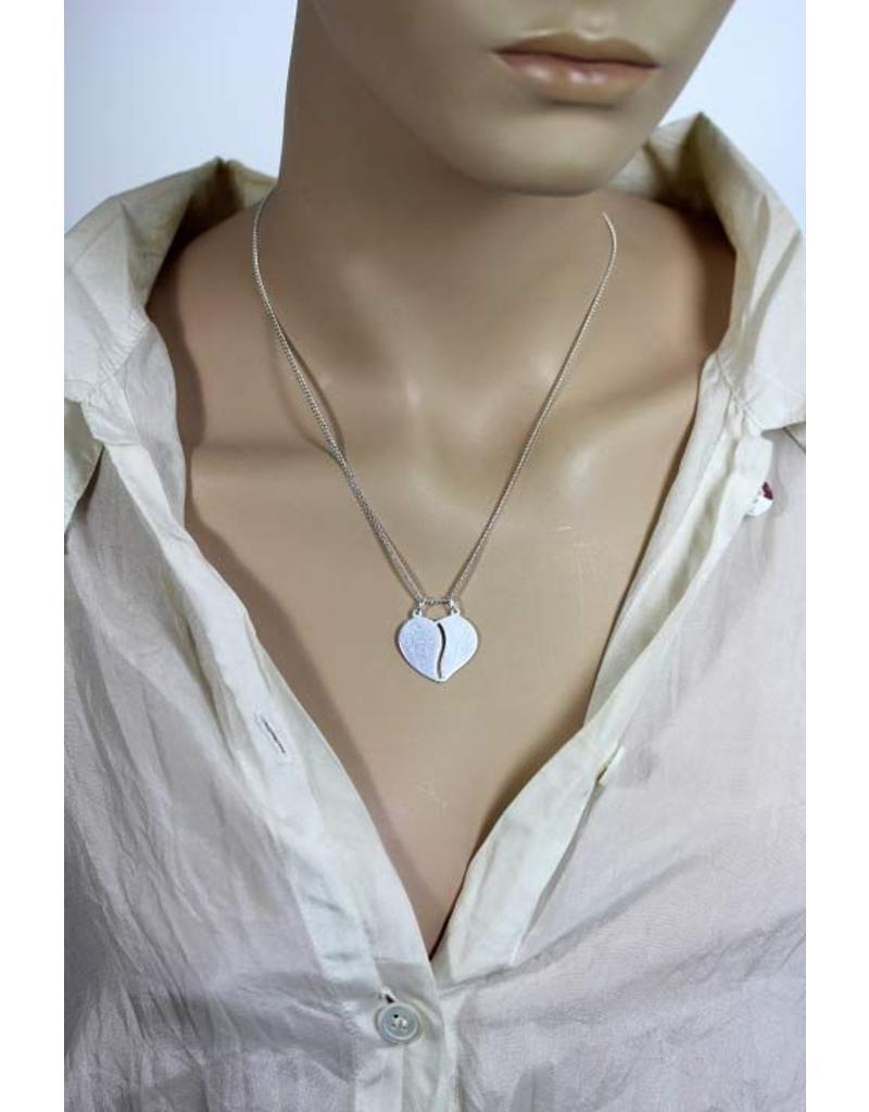 Heart pendant - sterling silver