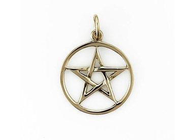 Gouden Pentagram hangers