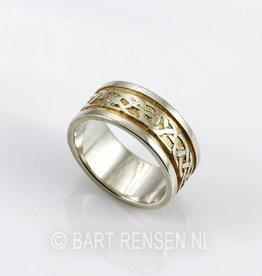 Celtic Rings - zilver - gilded