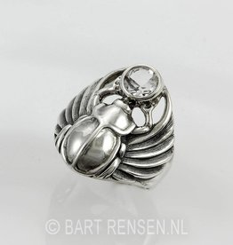 Scarab Ring - silver