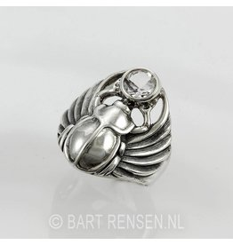 Scarabee Ring - zilver