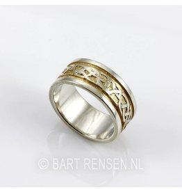 Celtic Ring - zilver - gilded