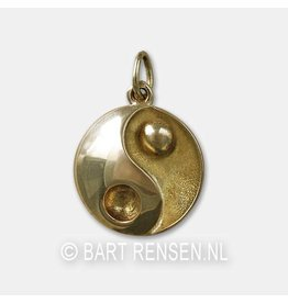 Ash pendant Yin Yang - gold