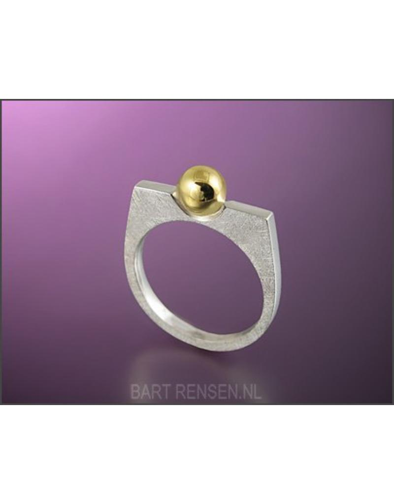 Memorial Ring - sterling silver- Gold