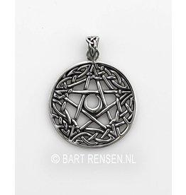 Pentagram hanger - zilver