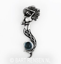 Mermaid pendant with stone