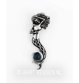 Mermaid pendant with stone