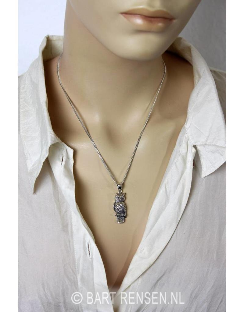 Uil hanger - echt zilver