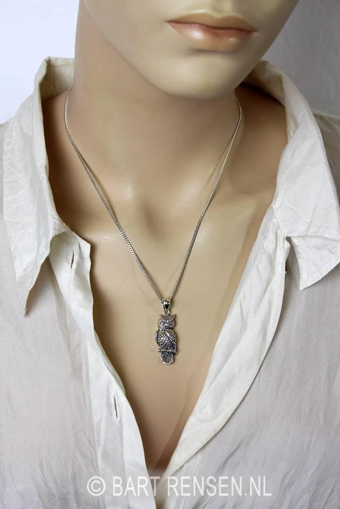 Uil hanger - zilver 925