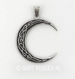 Keltische Maan hanger - zilver