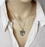 Levensboom Hart hanger - zilver 925