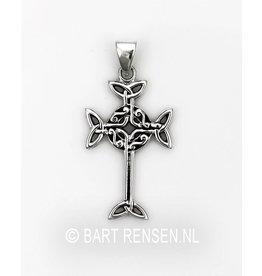 Keltisch Kruis hangertje - zilver