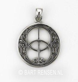 Silver Vesica Pisces pendant