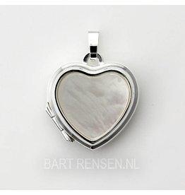 Heart medallion - silver