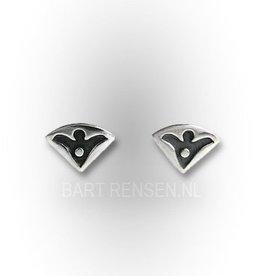 Engel oorknopjes - zilver